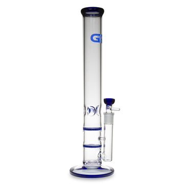 Grace Glass Straight Tube Bong with Double Honeycomb Percs