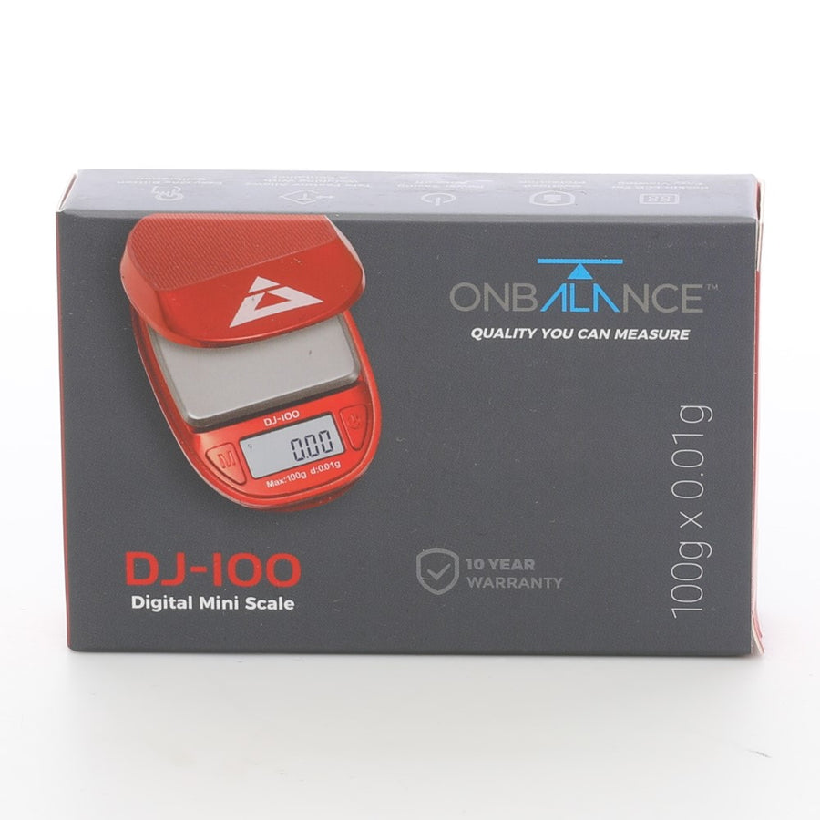 On Balance DJ-100 Red 0.01g Scales