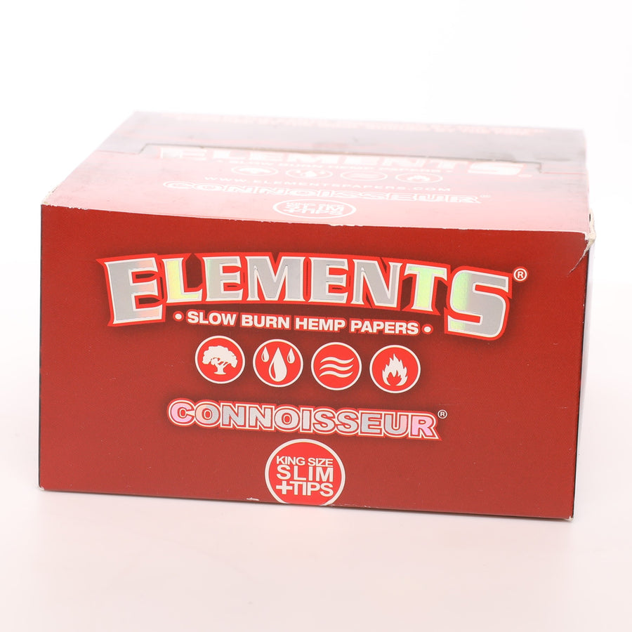 Elements Red Slow Burn King Size Slim Connoisseurs