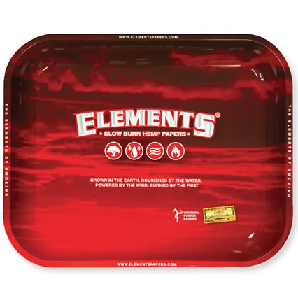 Elements Red Rolling Tray - Large