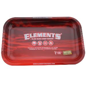 Elements Red Rolling Tray - Small