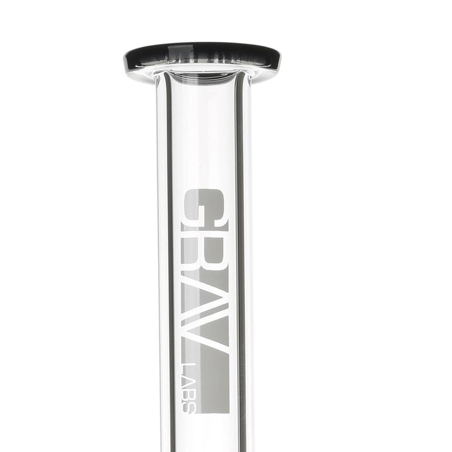 Grav Labs Flared Straight Bong with Coil Showerhead Perc