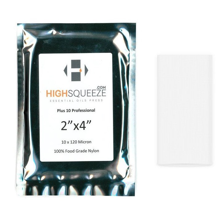High Squeeze Essential Oil Micron Press Bags - 120 Micron