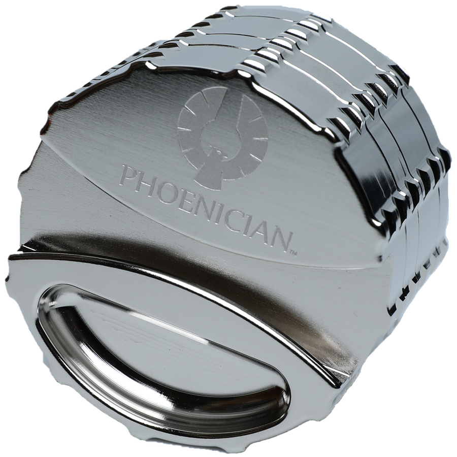 Phoenician Engineering Chrome Limited Edition Grinder - 78mm
