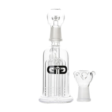 Grace Glass Ash-Catcher with 6-Arm Tree Perc - 18.8mm, 45 degree joint