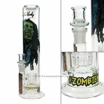 Headdies Glass Zombie Marley Bong with Drum Perc