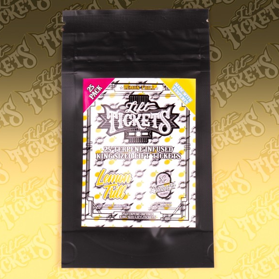 Lift Ticket King Size Terpene Papers x 25 - Lemon Trill