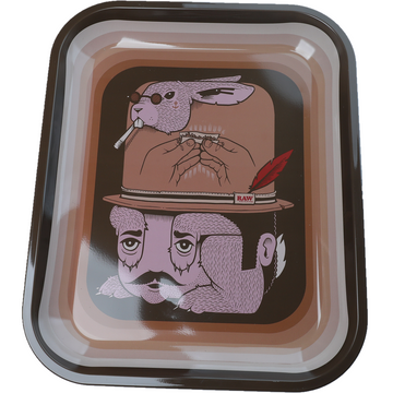 Raw Rabbit Limited Edition Rolling Tray - Large