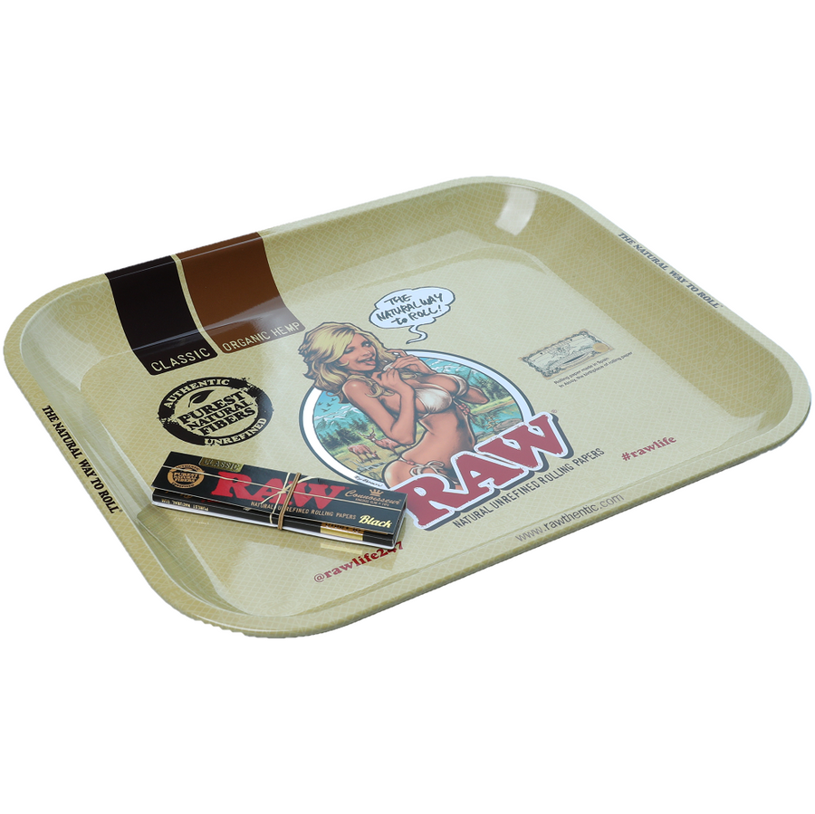 Raw Bikini Girl Rolling Tray - Large