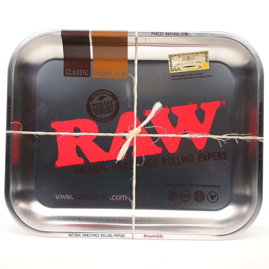 Raw Metallic Silver Limited Edition Rolling Tray Large