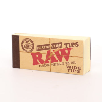 Raw Natural Perforated Wide Rolling Tips
