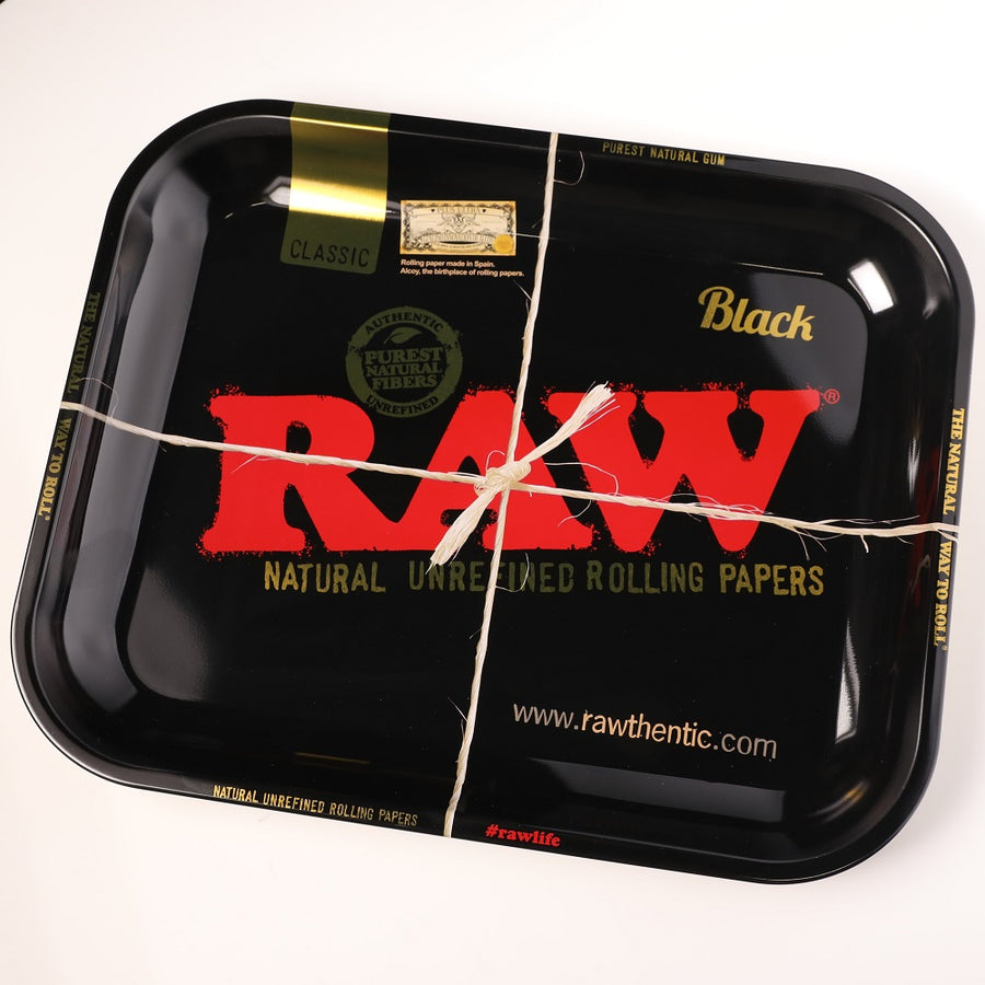 Raw Black Rolling Tray - Large