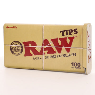 Raw Natural Pre-Rolled Tips Tin