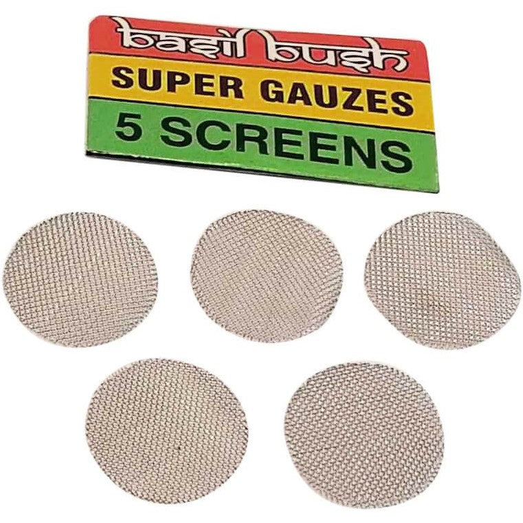 Basil Bush Steel Bong/Pipe screens - 5 packs
