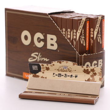 OCB Virgin Unbleached King Size Slim Connoisseurs