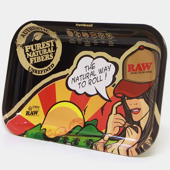 Raw Brazil Rolling Tray - Medium