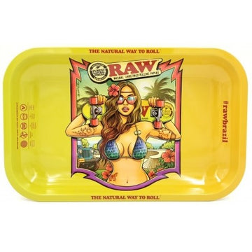 Raw Brazil V2 Rolling Tray - Medium