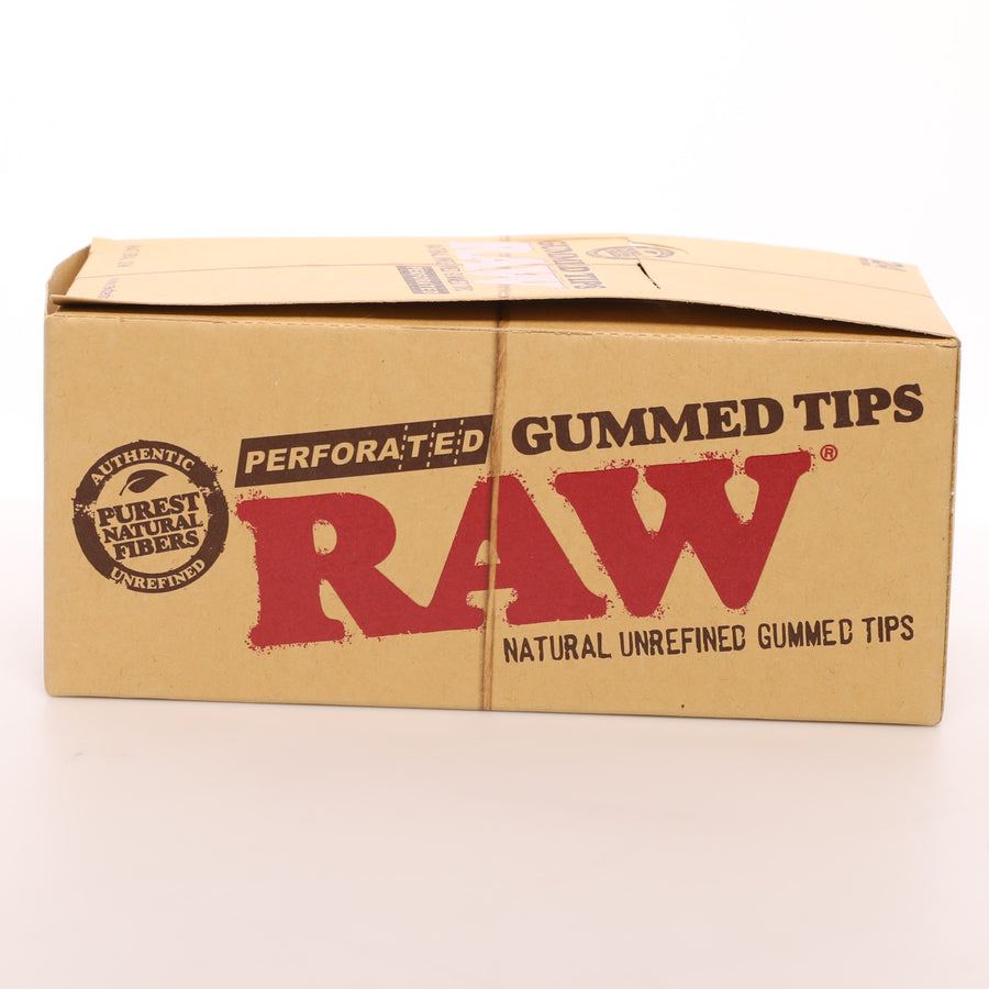 Raw Natural Gummed and Perforated Rolling Tips
