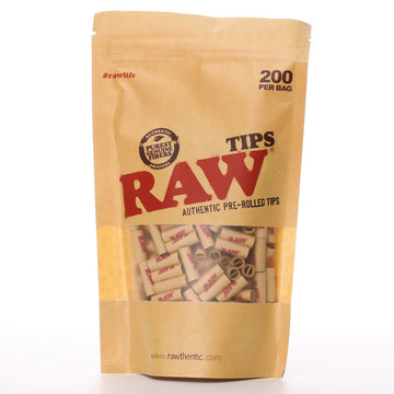 Raw Pre-Rolled Tips - Qty 200