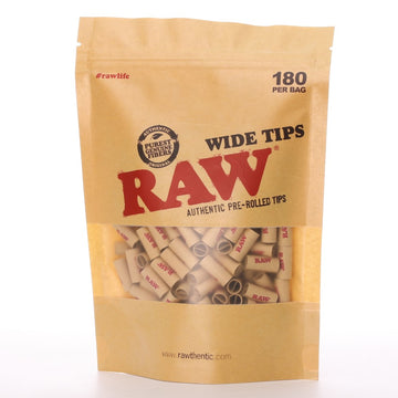 Raw Wide Pre-Rolled Tips - Qty 180
