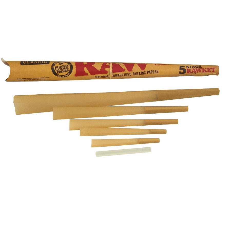 Raw Classic 5-Stage Rawket - Pre Rolled Cones