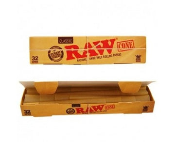 Raw Classic King Size - Pre Rolled Cones x 32