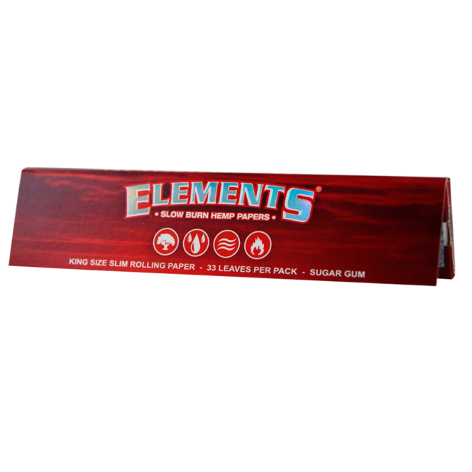 Elements Red Slow Burn King Size Slims