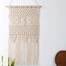 Load image into Gallery viewer, Macrame Wall Tapestry Small Boho Interior Wall Decor