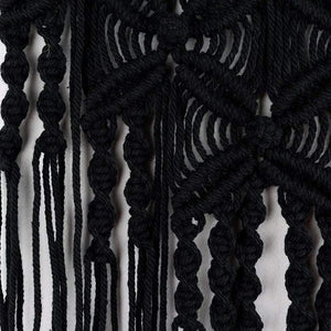 Macrame Wall Hanging Woven Tapestry Boho Wall Decor Black