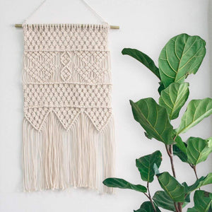 Macrame Wall Tapestry Small Boho Interior Wall Decor