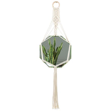 Load image into Gallery viewer, Macrame Hanging Wall Mirror Small Octagon Boho Wall Decor