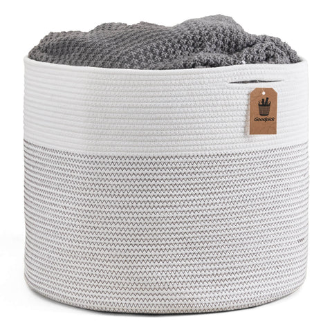 Extra Large Storage Baskets Cotton Rope Basket