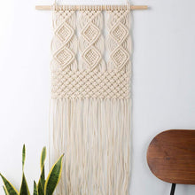 Load image into Gallery viewer, Macrame Wall Hanging Woven Tapestry Boho Art Decor