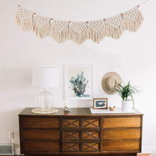 Load image into Gallery viewer, Macrame Woven Wall Hanging Fringe Garland Banner