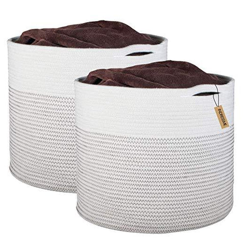 Large Cotton Rope Storage Baskets with Handle