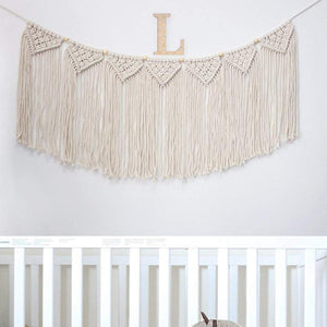 Macrame Woven Wall Hanging Curtain Fringe Garland Banner