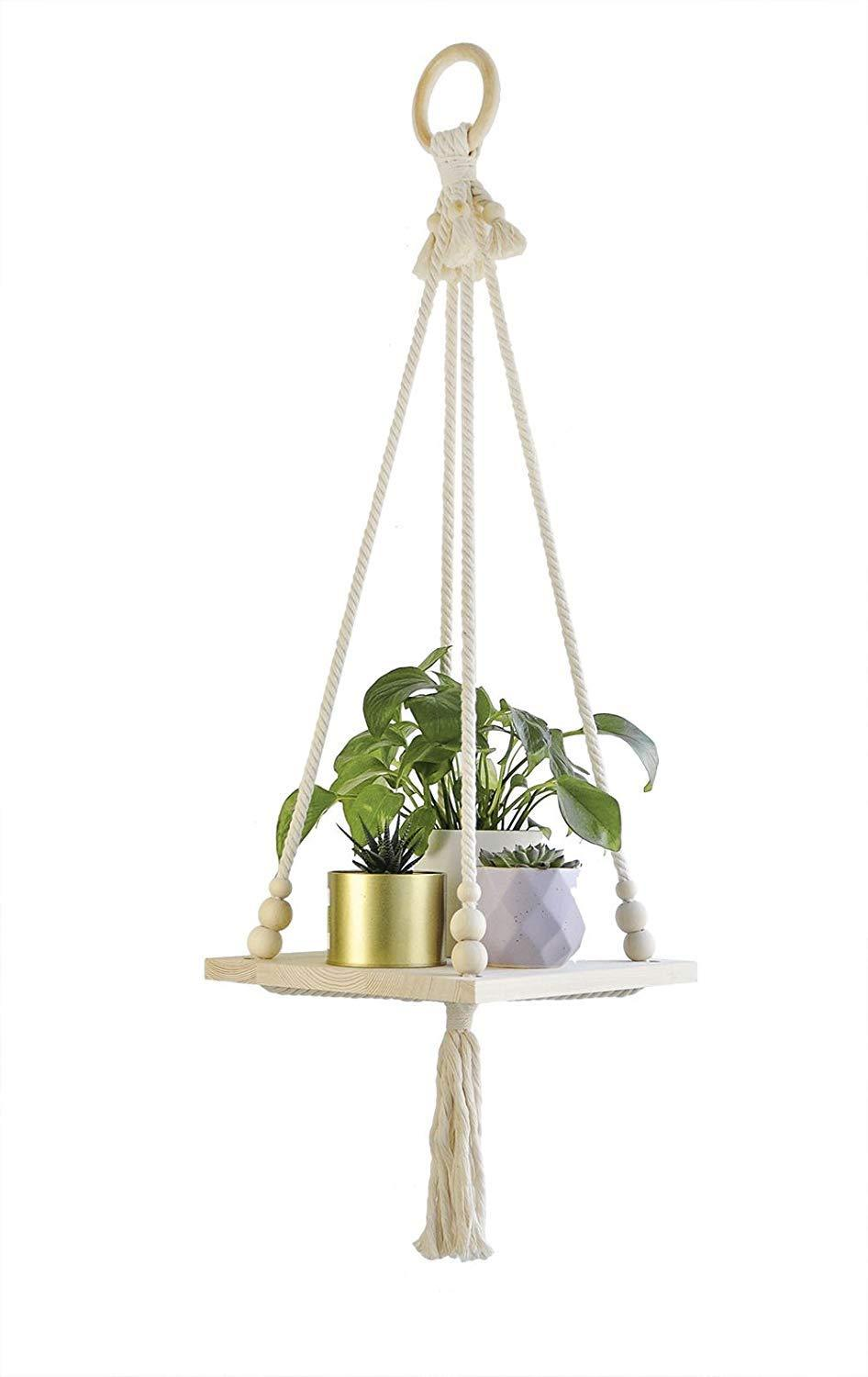 Macrame Plant Hanger Indoor Planter Hanging Shelf