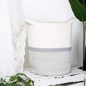 Large Cotton Rope Laundry Basket