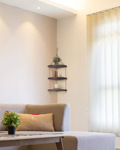 Hanging Corner Wall Shelf 3-Tier
