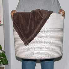 Load image into Gallery viewer, Large Cotton Rope Storage Baskets with Handle