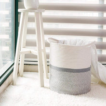 Load image into Gallery viewer, Large Cotton Rope Laundry Basket