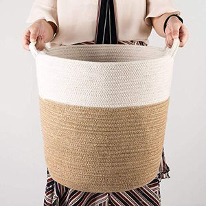 Cotton Rope Storage Basket with Handles