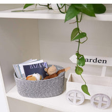 Load image into Gallery viewer, Small Cotton Rope Basket Set of 2