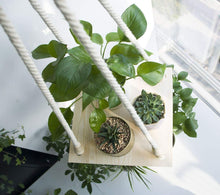 Load image into Gallery viewer, Macrame Plant Hanger Indoor Planter Hanging Shelf