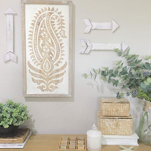 White Rustic Home Wall Hanging Decoration Set of 3