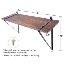 Load image into Gallery viewer, Wood Floating Shelf with Metal Brackets Set of 2