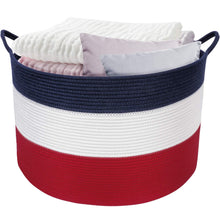 Load image into Gallery viewer, Rope Woven Laundry Basket with Handles for Clothes Hamper