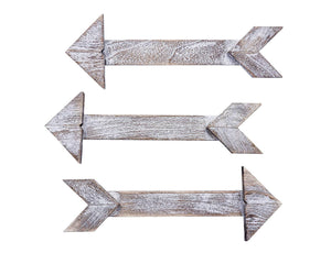 Set of 3 Farmhouse Barnwood Arrows Signs