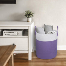 Load image into Gallery viewer, Tall Cotton Rope Laundry Basket for Dirty Clothes