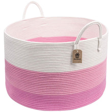 Load image into Gallery viewer, Cotton Rope Storage Basket with Long Handles